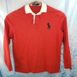 Polo Long Sleeve Rugby Shirt Large Logo